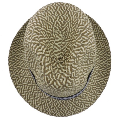 Silver Fever Patterned and Banded Fedora Hat Black Flowers