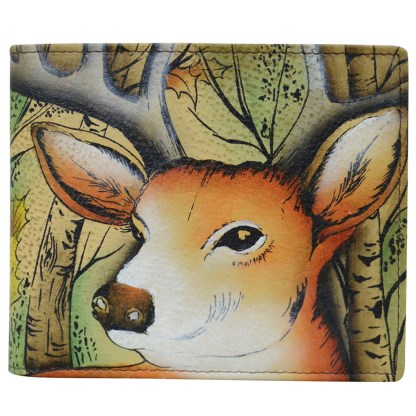 Anuschka Leather RFID Men's Two Fold Forest Buck