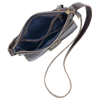 TrueLu American West Crossbody, Mila Coffee Bean