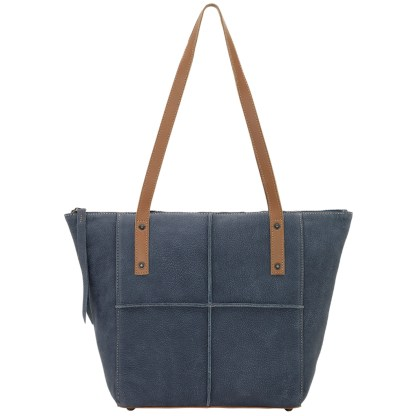 TrueLu American West Tote, Scarlett Denim Blu Tan
