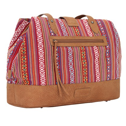 American West Bandana Carry All Travel Tote -Buena Vista - Multi Reds