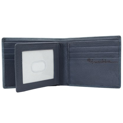 Anuschka Leather RFID Men's Two Fold Wallet with Insert Vintage Car