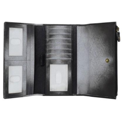 Anuschka Leather Three Fold Clutch Wallet Calaveras de Azucar