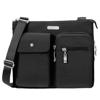 Baggallini Everything Bag Accordion Crossbody Purse Black