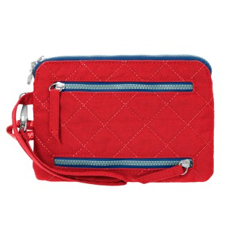 Baggallini RFID Pasport Case & Currency Organizer Wallet Wristlet Red/Navy