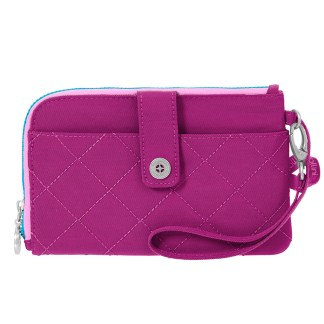 Baggallini Travel RFID Passport & Phone Wristlet Fushia/Pink
