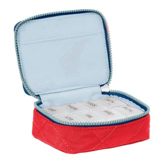 Baggallini Travel Pill Case Red/Navy