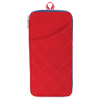 Baggallini RFD Travel Wallet Passport Size Red/Navy