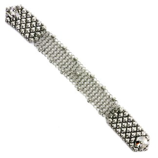 "Sergio Gutierrez Liquid Metal Chain Mail Bracelet 7/8"" Wide"