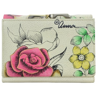 Anna by Anuschka leather Three Fold Wallet - Floral Paradise