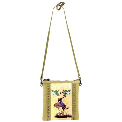 Montana West Genuine Leather Handcrafted Crossbody Handbag Tan Rodeo Collection 5