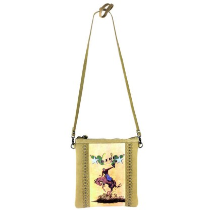 Montana West Genuine Leather Handcrafted Crossbody Handbag Tan Rodeo Collection 9