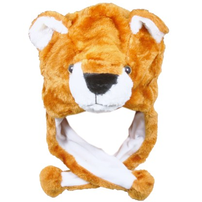 Silver Fever® Plush Soft Animal Beanie Ski Hat Brown Bear