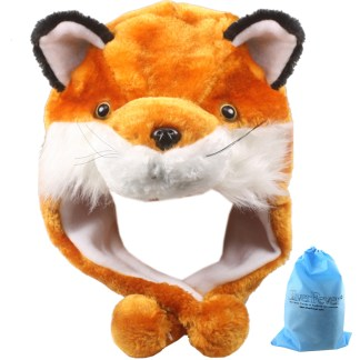 SILVERFEVER Plush Soft Animal Beanie Ski Hat Fire Fox