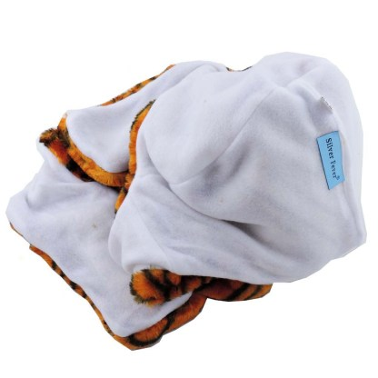 Silver Fever® Plush Soft Animal Beanie Hat w/ Built-In Mittens Paws Lion