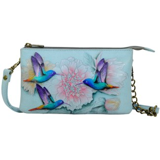 Anuschka  Compact Crossbody Handpainted Leather