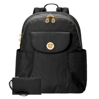 Baggallini Barcelona Laptop Backpack, Black