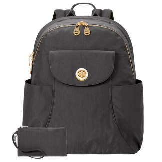Baggallini Barcelona Laptop Backpack, Charcoal