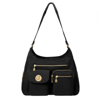 Baggallini San Marino Satchel Shoulder Handbag, Black