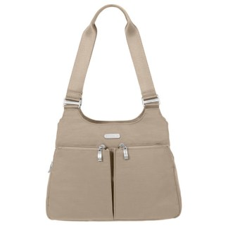 Baggallini Triple Entry Satchel with RFID Wristlet, Beach