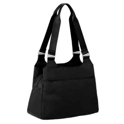 Baggallini Triple Entry Satchel with RFID Wristlet, Pacific
