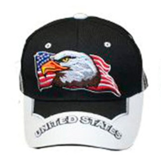 Silver Fever® Classic Baseball Hat 100% Adjustable Unisex Trucker Cap - Made to Last -- Black w United States Flag