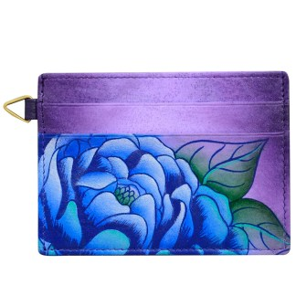 Anna by Anuschka Leather Slim Credit Case Wallet - Presious Peony Eggplant