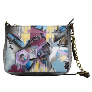 Anuschka Leather Comact Crossbody  Urban Jungle