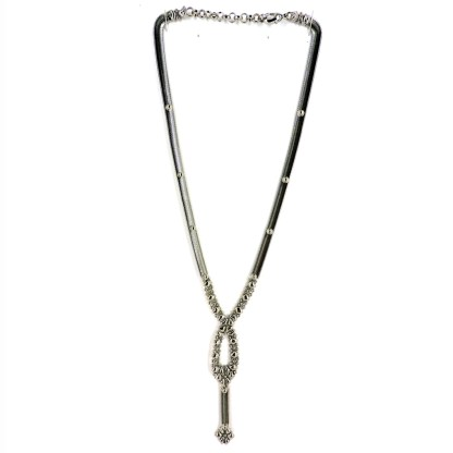 SG Liquid Metal Snake Lariat Necklace Sergio Gutierrez