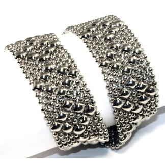 Sergio Gutierrez Liquid Metal Diamond Mesh Double Bracelet / Choker size 3 X  / or Anklet