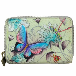 Anuschka Leather Multiple CC Busin. Card Wallet Wondurus Wings