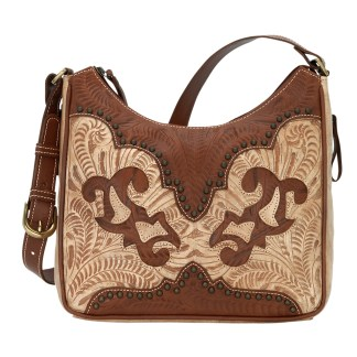 American West Leather - Shoulder Handbag Hobo Brown - Annie's Secret - Concealed Carry