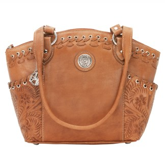 American West Leather - Multi Compartment Tote Bag - Harvest Moon Tan