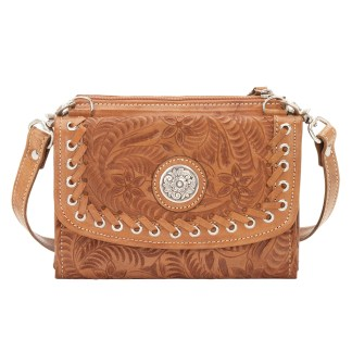 American West Leather - Shoulder Handbag Hobo  Tan - Harvest Moon