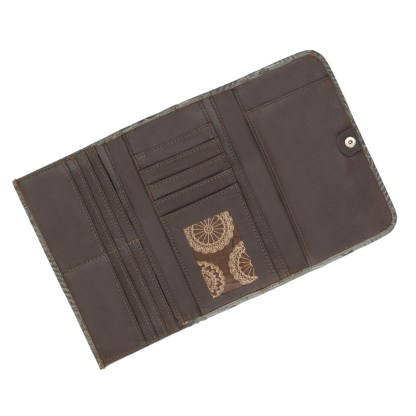 American West Leather - Tri-Fold Ladies Wallet - Turquoise - Annie's Secret - Concealed Carry