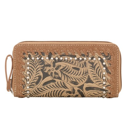American West Bandana Ladies By-Fold Wallet Tan - Concealed Carry