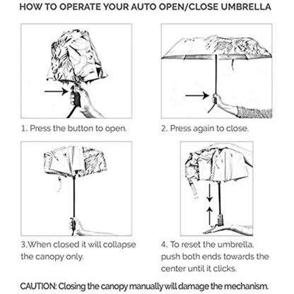 "Anuschka Art Foldable Umbrella 42"" Canopy Coverage Rain or Sun UV Protection Windproof Rainbow Birds"