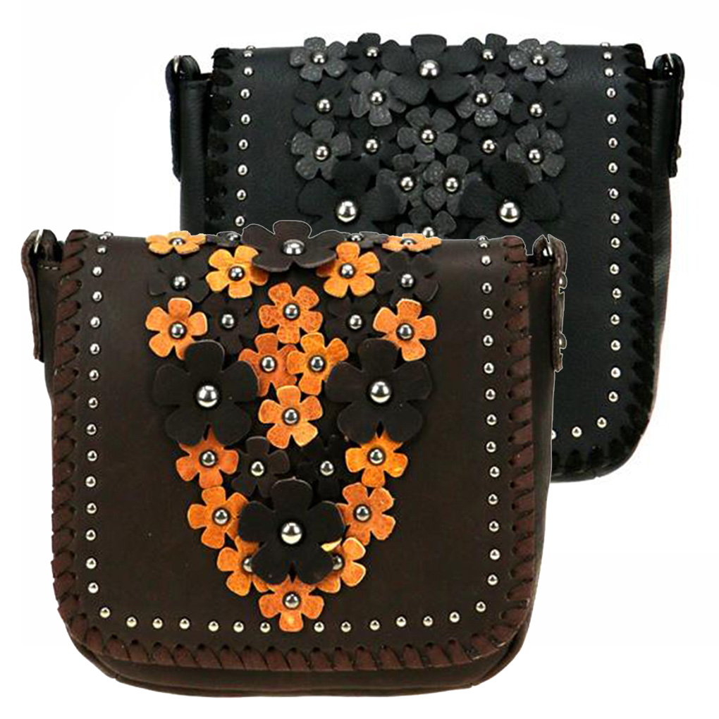 Free Shipping. Detachable Strap Reclaimed Leather Large Wallet with Appliqued Flap and  Adjustable