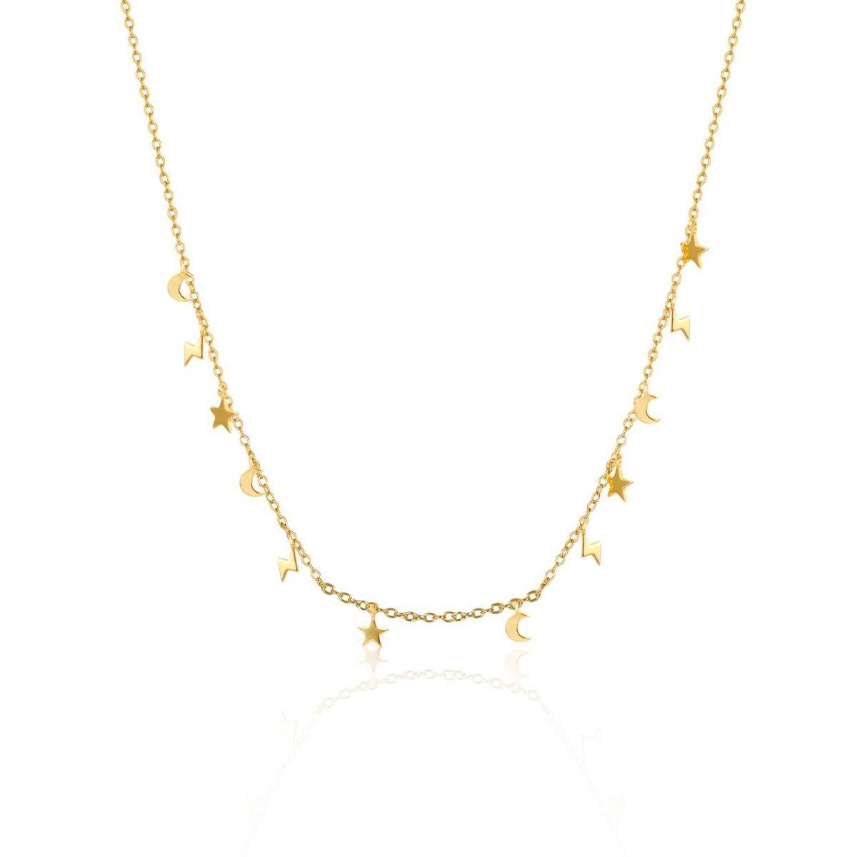 Collar Charms Baño Oro