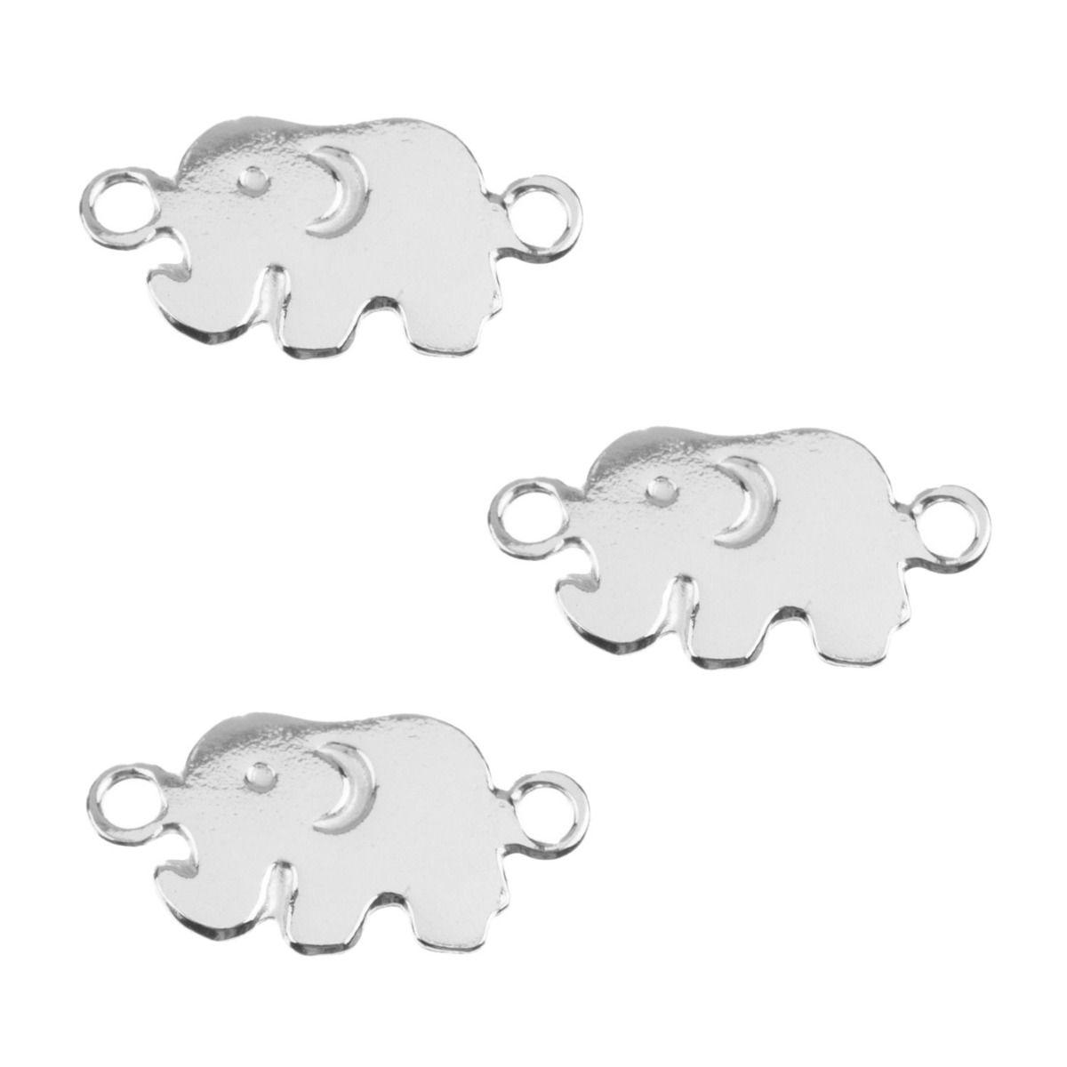 Motivo elefante plata