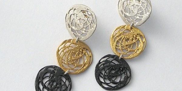 451 - Triple Round Earrings