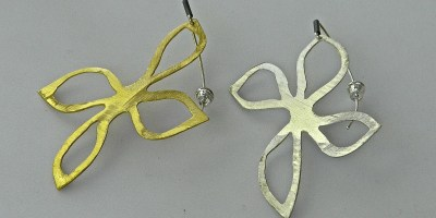 497 - Four Leaf Earrings
