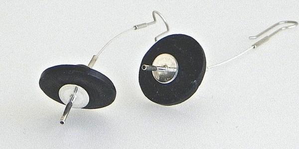 644 - Long Flexible Coconut Earrings