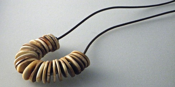 792 - Long Mutiple Fossil Necklace