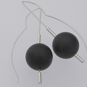 797 - Black Jade 15mm Earrings