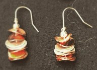 Copper and Silver earrings made by Silverkupe-emt