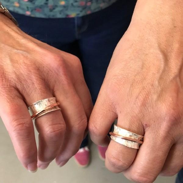 Silverkupe Spinning Rings