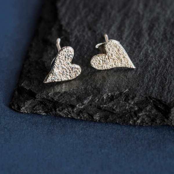 Silverkupe Silver Heart Earrings