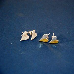 Silverkupe Heart Combo Earrings