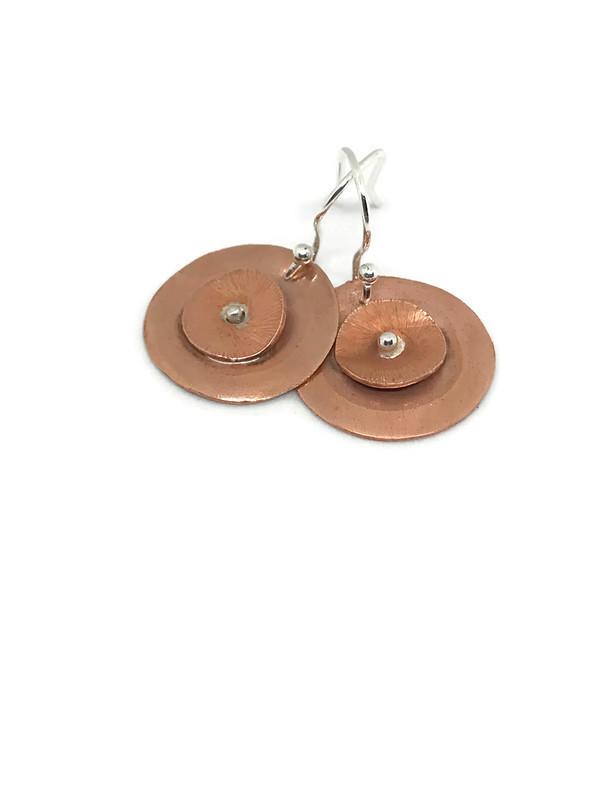 Silverkupe copper-dotty-Earrings